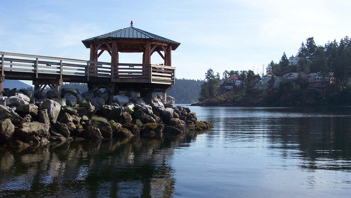 Gazebo at Gibsons Landing waterfront