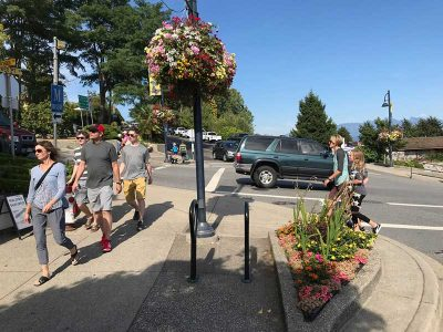 Shoppers in Gibsons Landing