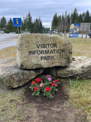 Visitor Information Park Flowers